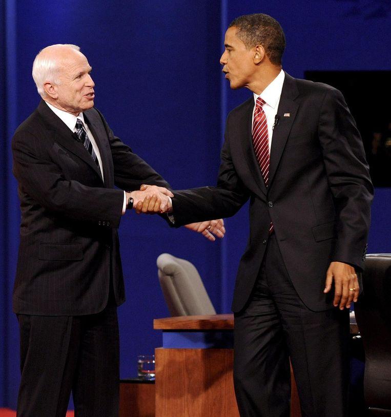 McCain en Obama in 2008 Beeld epa