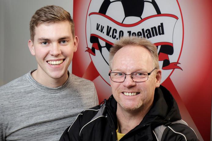 VCO-speler Sep Schraven (links) en VCO-trainer Mario van Berkom (rechts),