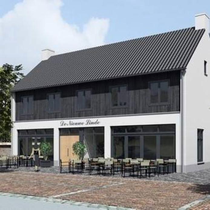 Artistieke impressie van De Nieuwe Linde.