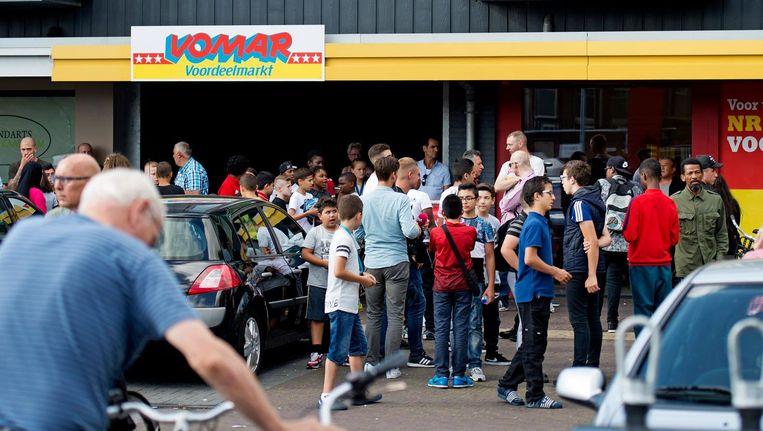 Jongeren in de Zaanse wijk Poelenburg zorgen voor veel overlast. Beeld anp