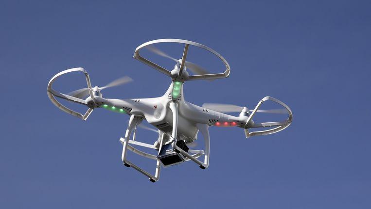 Een drone tijdens een technologieshow in Las Vegas. Beeld null