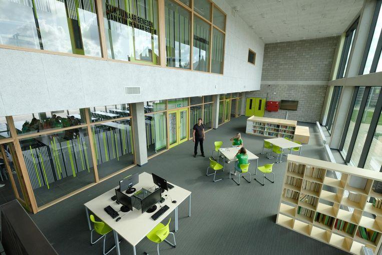 Een blik op het open leercentrum, het paradepaardje van het nieuwe gebouw.