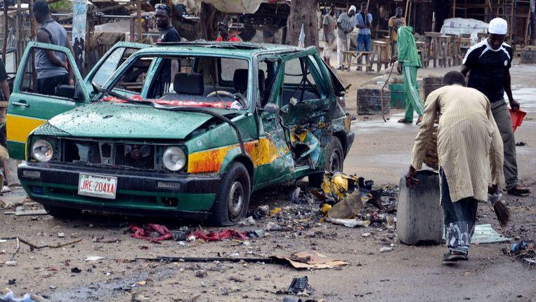 Archieffoto van een eerdere aanslag afgelopen zomer in Maiduguri Beeld afp