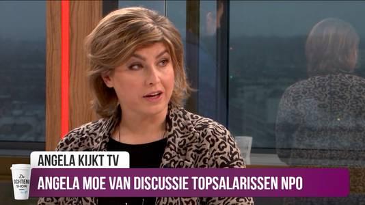 Angela de Jong vindt de discussie over het topsalaris van Mathijs van Nieuwkerk onzin.