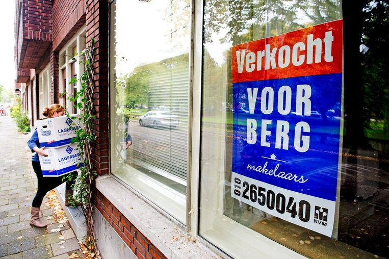 Het kabinet schrapt op Prinsjesdag de overdrachtsbelasting voor starters op de woningmarkt. Beeld ANP