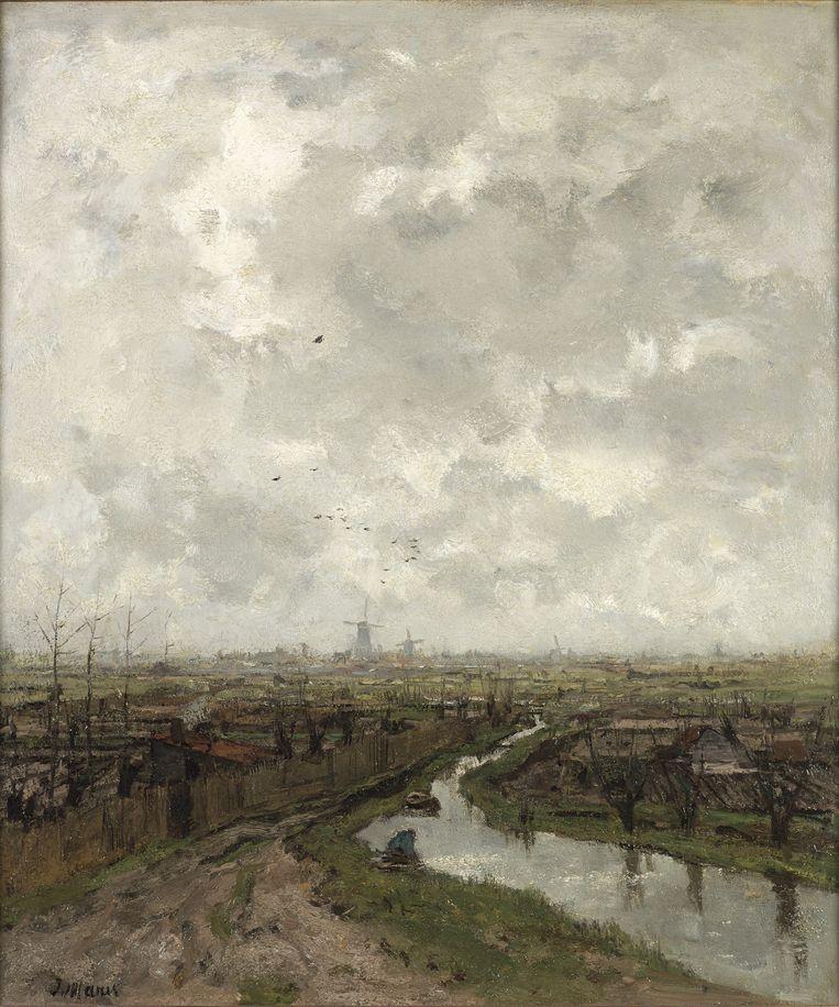 Jacob Maris: Slatuintjes bij Den Haag (c.a. 1878). Beeld null