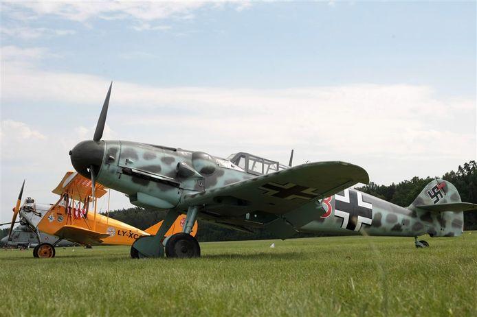 De Messerschmitt Bf109 G6. Zo'n Duits jachtvliegtuig is neergestort tijdens de Tweede Wereldoorlog bij Millingen in de gemeente Dalfsen.