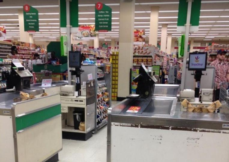 De supermarkt waar de feiten gebeurden.