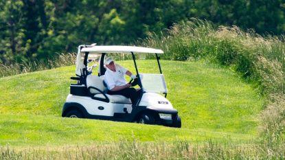 Trump voor het eerst weer op de golfbaan