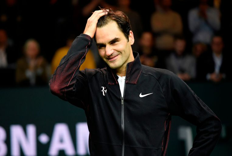 Federer, vrijdag in Rotterdam. Beeld null