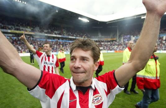 Jan Heintze bij zijn afscheid als speler in 2003.
