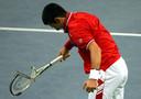 Djokovic sloeg al menig racket kapot.