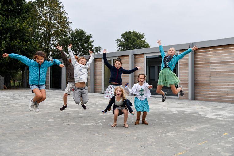 De leerlingen van de Appelbloesem zijn dolblij met hun nieuwe schoolvleugel.
