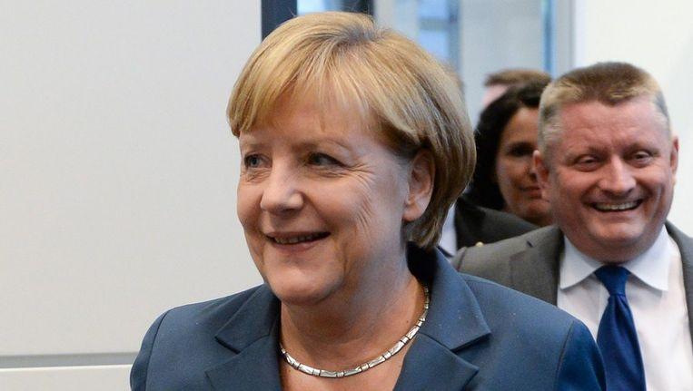 De Duitse bondskanselier Angela Merkel Beeld epa