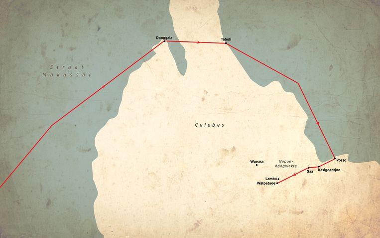 De reis van Pieter ten Kate op Celebes, het huidige Sulawesi Beeld Sander  Soewargana