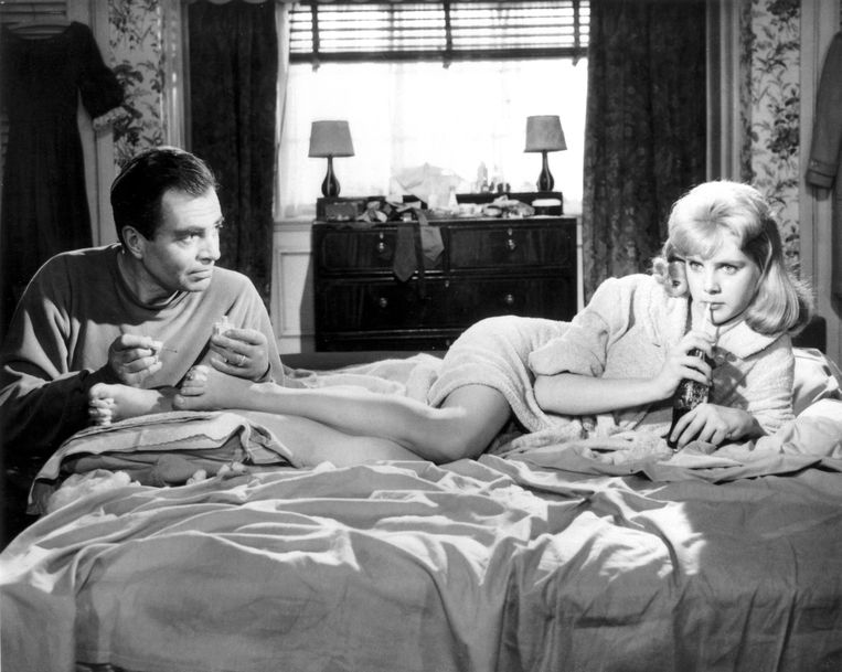 Sue Lyon (rechts) in de film 'Lolita'