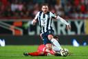 Vincent Janssen afgelopen zaterdag in actie tegen Necaxa namens CF Monterrey.