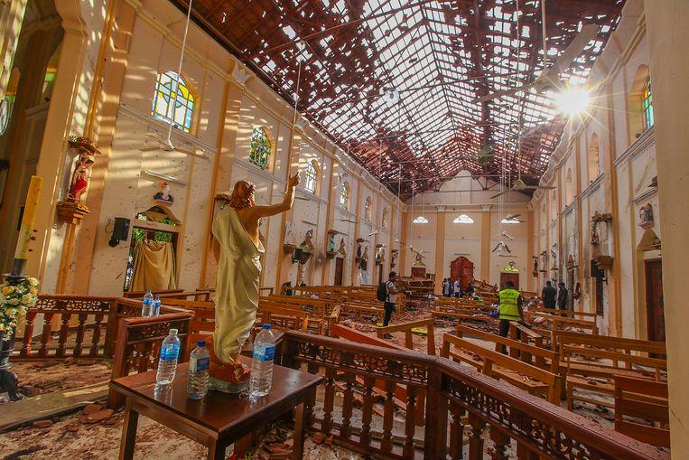 Bij de aanslagen in Sri Lanka op 21 april kwamen 258 mensen om het leven.  Beeld AP