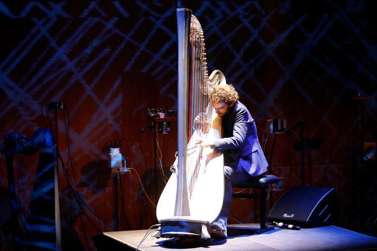 Harpist Remy van Kesteren. Beeld ANP