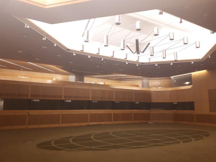 De nieuwe tijdelijke plenaire zaal