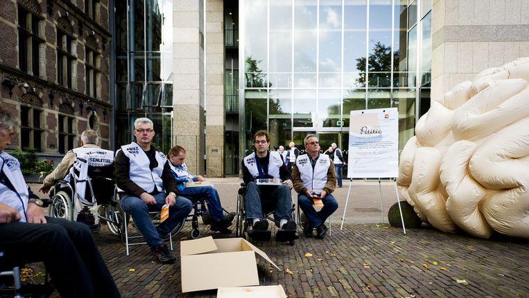 Protest tegen de AWBZ-plannen (archieffoto). Beeld anp