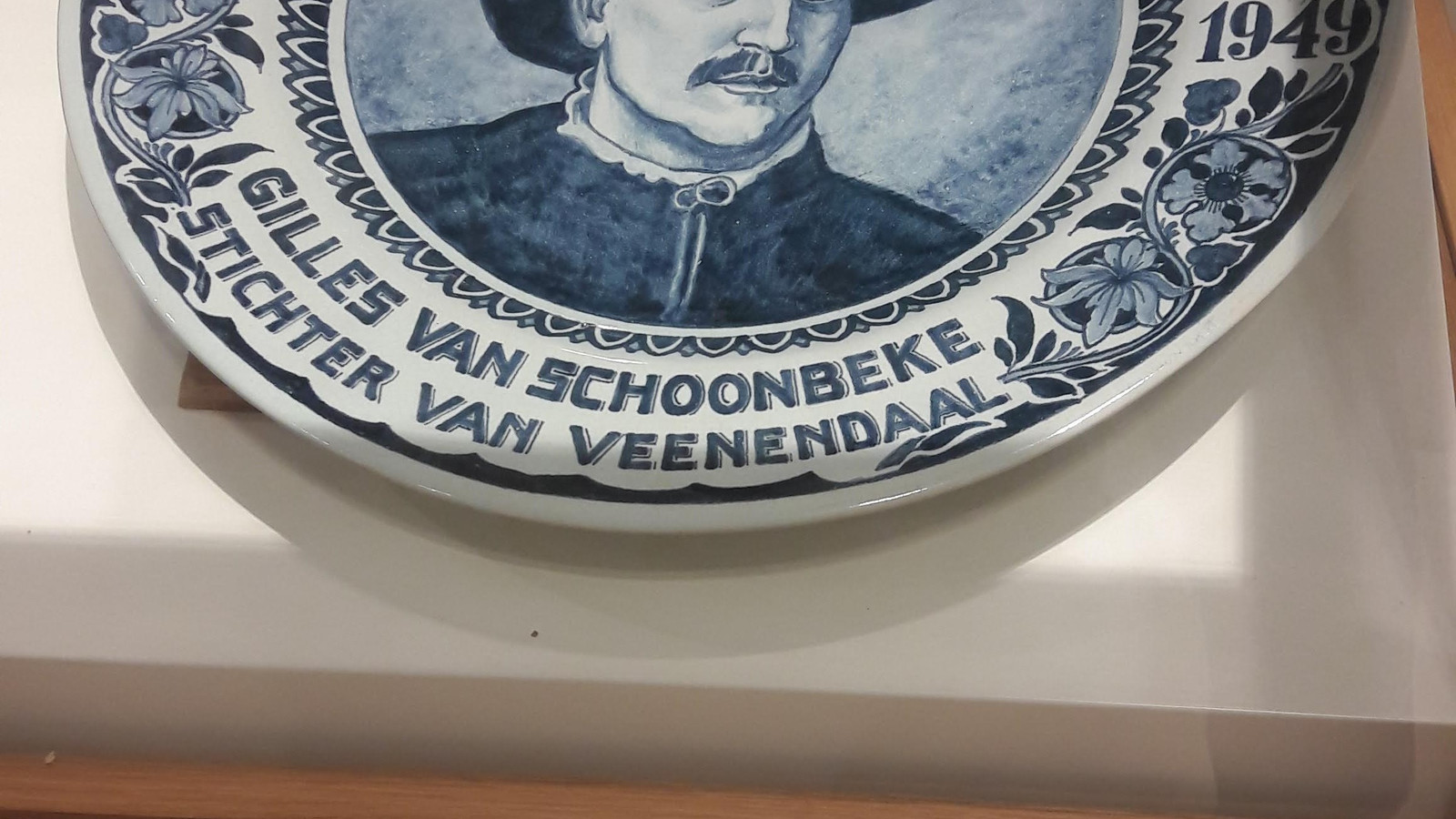 Een voorwerp in het Veenendaalse museum over Gilbert van Schoonbeke.