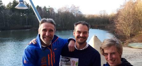 Nieuwjaarsduik op Het Hulsbeek in Oldenzaal voor stichting Ubuntu