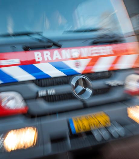 Chalet in vlammen op in Hoek van Holland