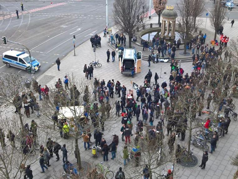 Op de demonstratie waren ongeveer 200 rechtsextremisten afgekomen.