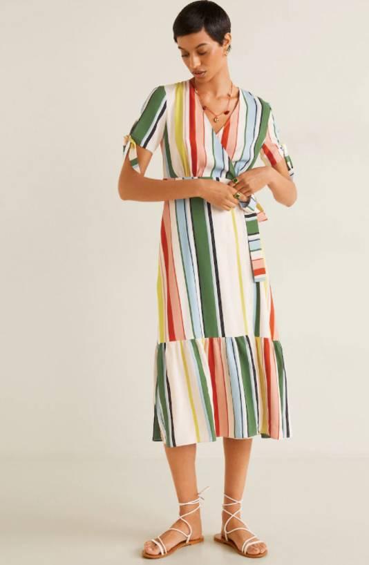 Robe à rayures colorées - 39,99 euros au lieu de 59,99 euros.
