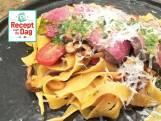 Recept van de dag: Biefstuk met pasta en basilicumolie