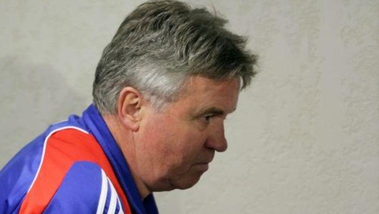 Guus Hiddink voelt zich nog steeds bondscoach van Rusland, maar spreekt toch met zijn zaakwaarnemer over de toekomst. Foto ANP Beeld