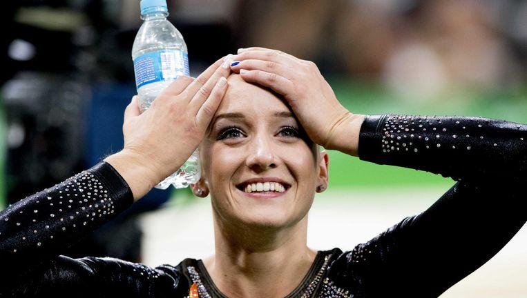Sanne Wevers na het behalen van de gouden medaille. Beeld anp