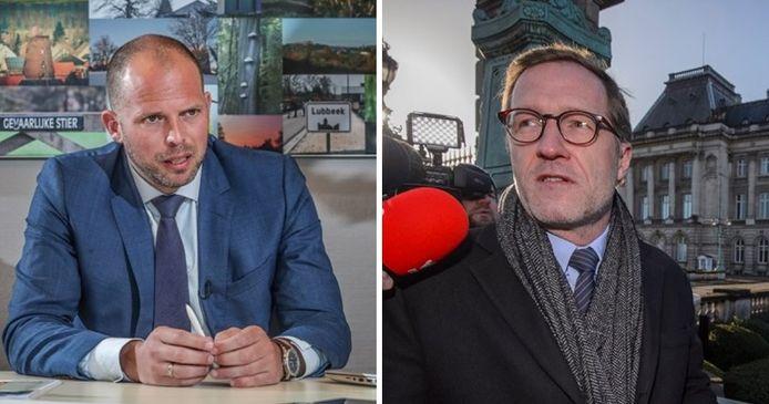 Theo Francken (N-VA) et Paul Magnette (PS)