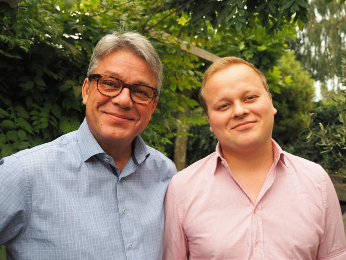 Oscar met zijn vader Michiel in 2016.