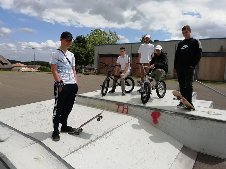 Yannick Vanbrabant en zijn vrienden dromen van een heel nieuw skatepark, zonder overlast van hangjongeren.