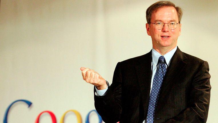 Google-oprichter Eric Schmidt. Beeld epa