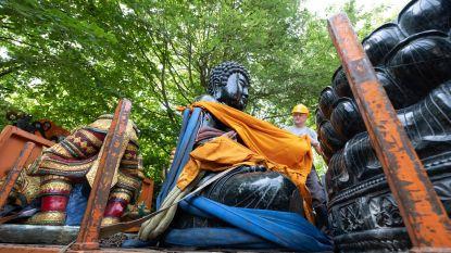 Boeddhabeeld verhuist naar nieuwe tempel