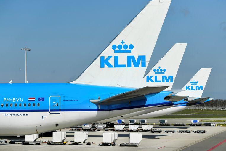 KLM-toestellen op Schiphol Beeld REUTERS