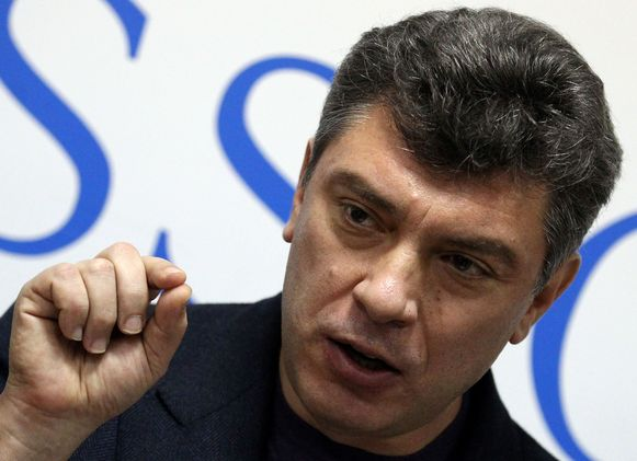 De vermoorde Russische oppositieleider Boris Nemtsovplein in 2011.