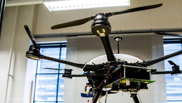 De drone van de Oekraïners is in beslag genomen.