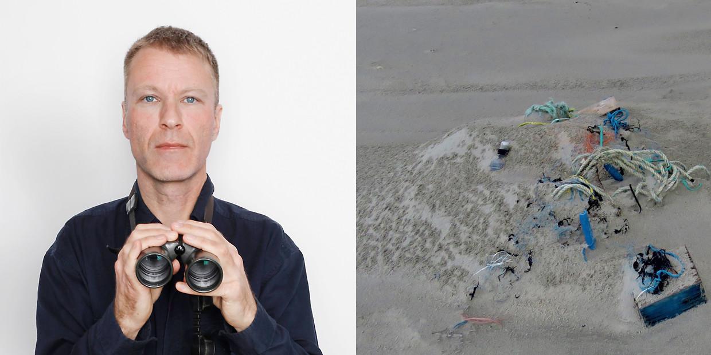 Visnet en ander afval. Beeld Jörgen Caris / Koos Dijksterhuis