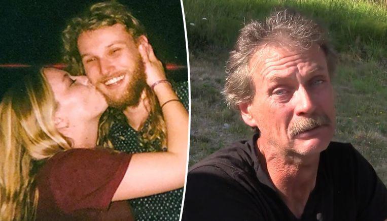 Lucas Fowler en Chynna Deese. Rechts Alan Schmegelsky, de vader van een van de tieners die veracht worden van de moord op het koppel.