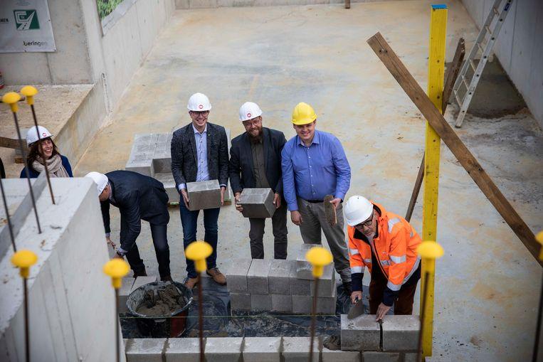 Eerste steenlegging academiepark te Beringen.