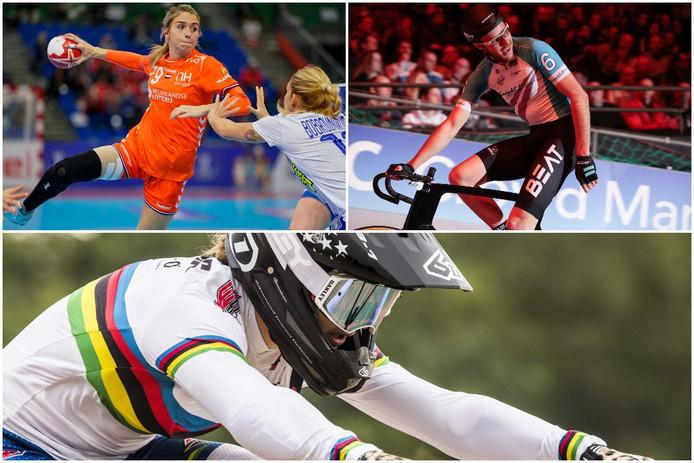 Precies een half jaar voor de Olympische Spelen is de lijst met 'zekerheidjes' uit deze regio nog heel kort. Linksboven: Estavana Polman, rechtsboven: Jan-Willem van Schip. Onder: Laura Smulders
