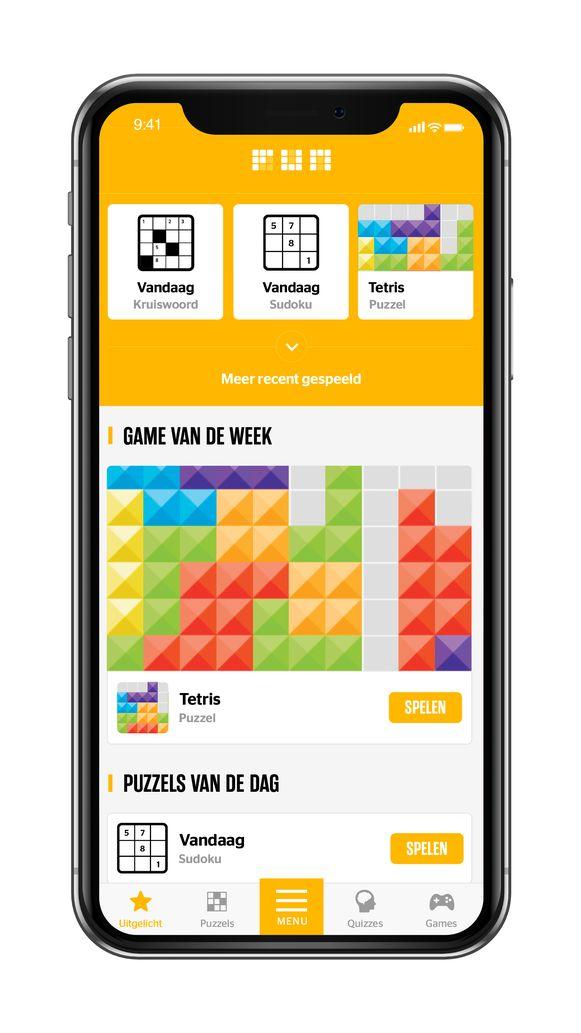 'Fun' is de vierde wereld in de HLN-app, waar je uitdagende puzzels en ontspannende games vindt.