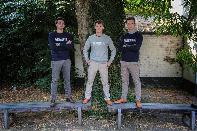 Studenten en ondernemers Arthur Denys en Alex en Arnaud Lagast.
