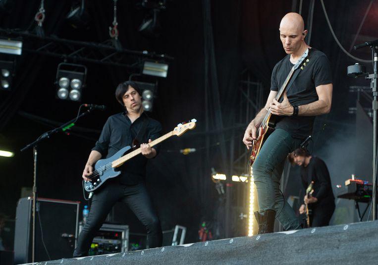 A Perfect Circle tijdens het 'Rock im Park'-festival in Duitsland. Beeld EPA