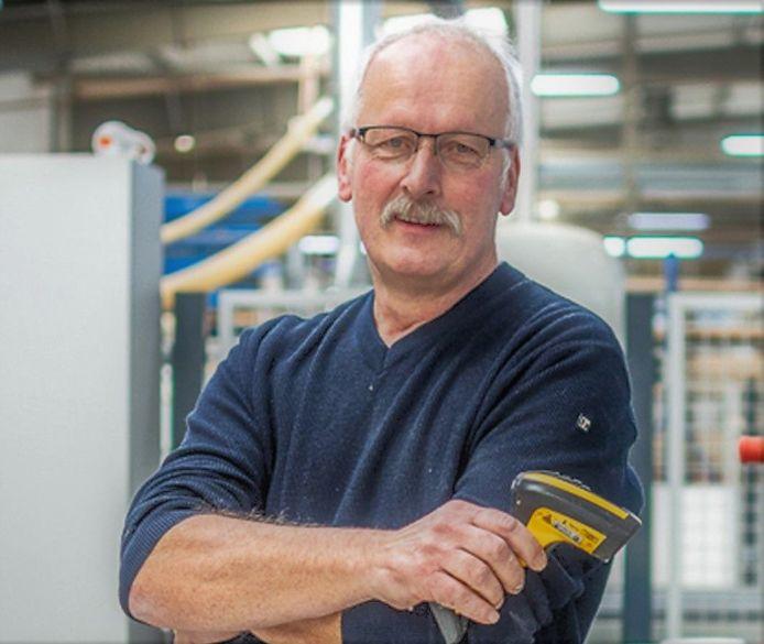 Jubilaris Bert Zwiers van Van Keulen Interieurbouw.