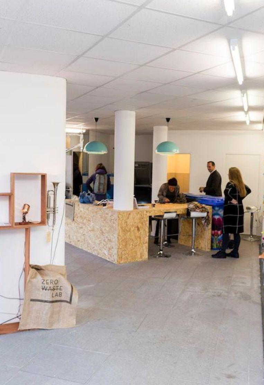 Het Zero Waste Lab begint vooralsnog voor zes maanden. Daarna moet blijken of het kan blijven bestaan Beeld Rink Hof